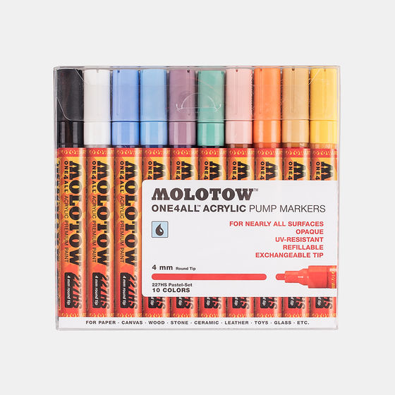 Набор маркеров MOLOTOW 227HS 10шт. Pastel colors Set1